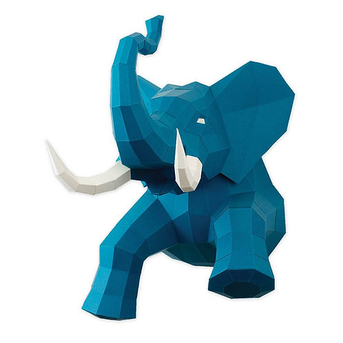 Eléphant bleu DIY en papier AGENT PAPER