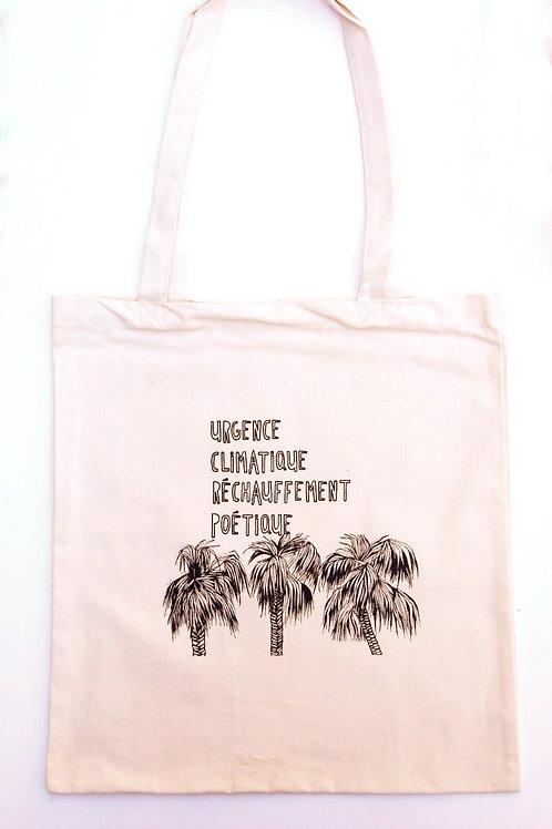 "Tote Bag ""Urgence Climatique"" VOYAGEURS IMMOBILES"