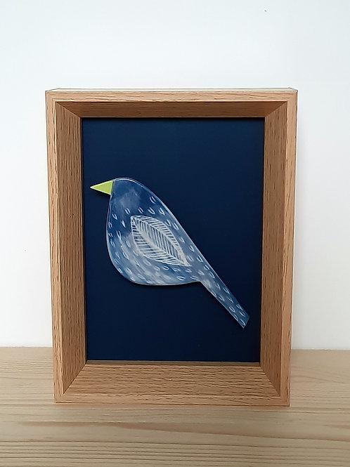 Tableau petit oiseau en porcelaine MARIE SAMSON