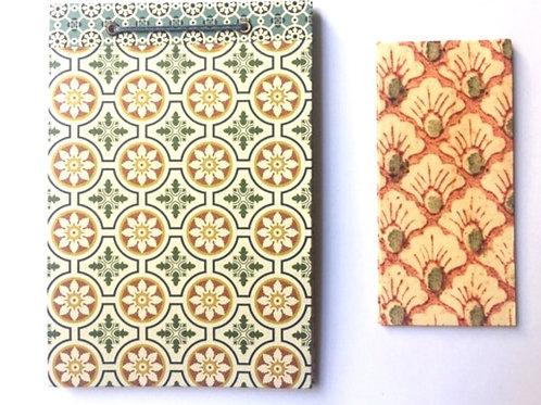 Carnet artisanal et son marque-page en papier italien PAPIER MALICE