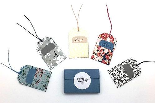 Etiquettes paquets cadeaux PAPIERS MALICE
