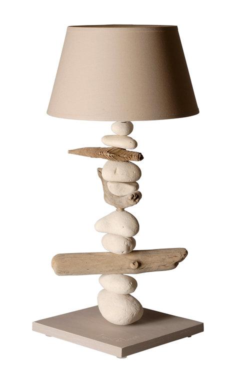 Lampe en bois flotté COC'ART CREATIONS