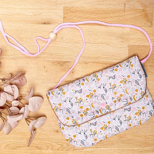 Sac bandoulière pour enfant tissu fleuri ROSANTIC