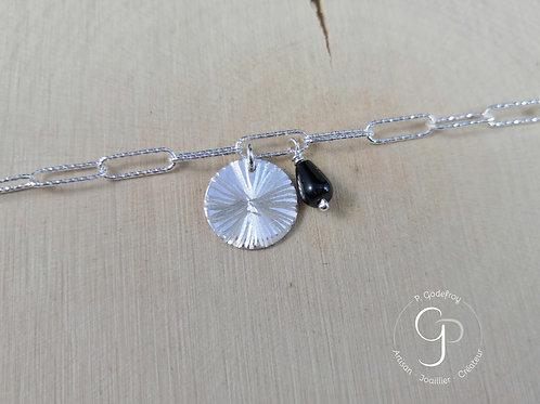 Bracelet mailles rectangulaires en argent PAULINE GODEFROY