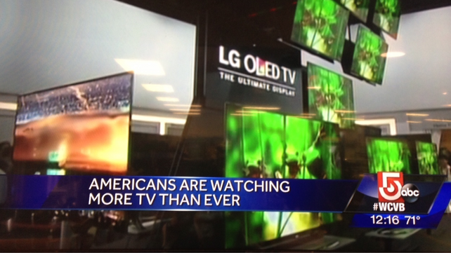 "CNN:  ""Americans Watching More TV Than Ever"""