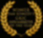 GKIC InfoMarketer Of the year laurels.pn