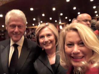 President Bill Clinton, Hilary Clinton, Ali Savitch