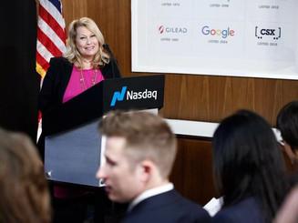 Ali Savitch speaks at NASDAQ