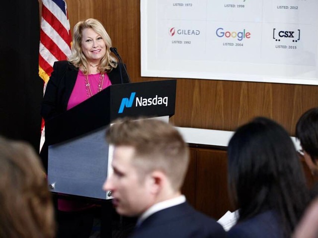 Ali Savitch speaks at NASDAQ