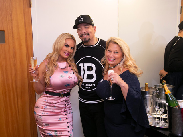 Ali Savitch with Ice T & Coco backstage at Carnegie Hall