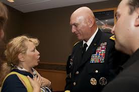 Ali Savitch and General Raymond Odierno US Army Chief of Staff