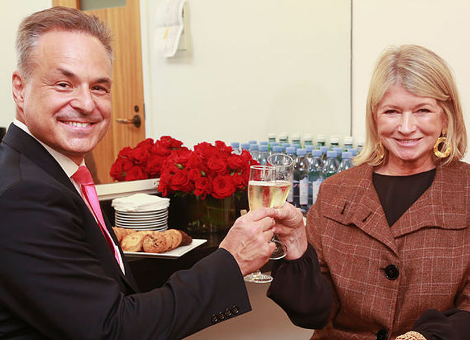 Clint Arthur & Martha Stewart backstage at Carnegie Hall