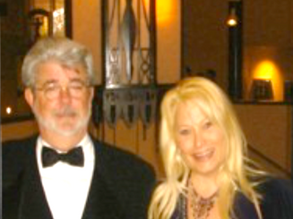 George Lucas and Ali Savitch