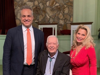 Clint Arthur, President Jimmy Carter, and Ali Savitch
