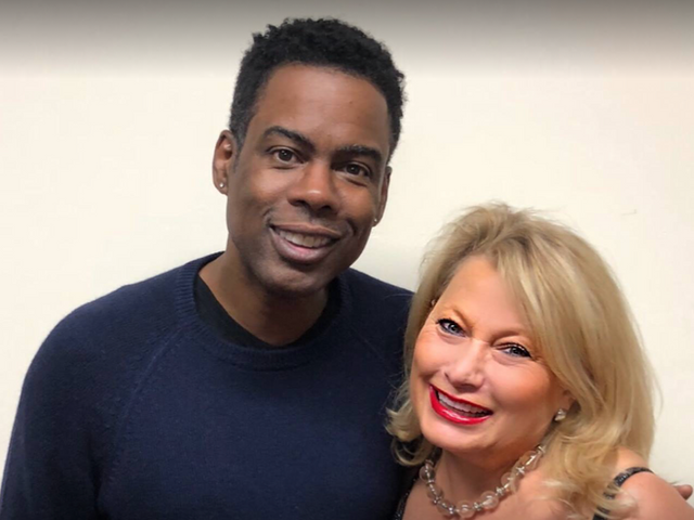 Chris Rock and Ali Savitch