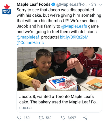 Creating Maple Leaf fans...