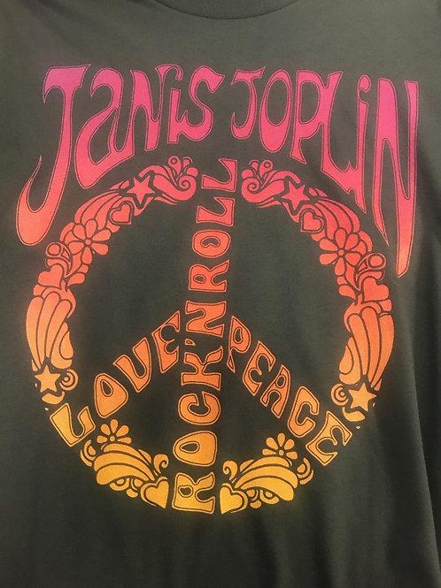 "Janis Joplin t-shirt ""Peace, Love and Rock n' Roll"""