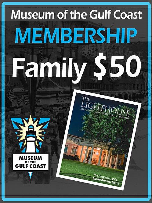 Family Membership $50