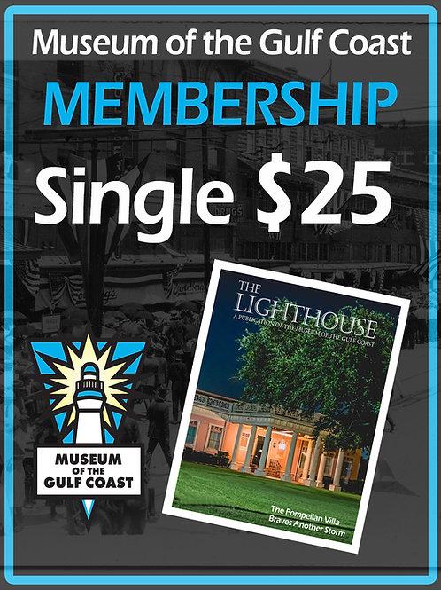 Single Membership $25