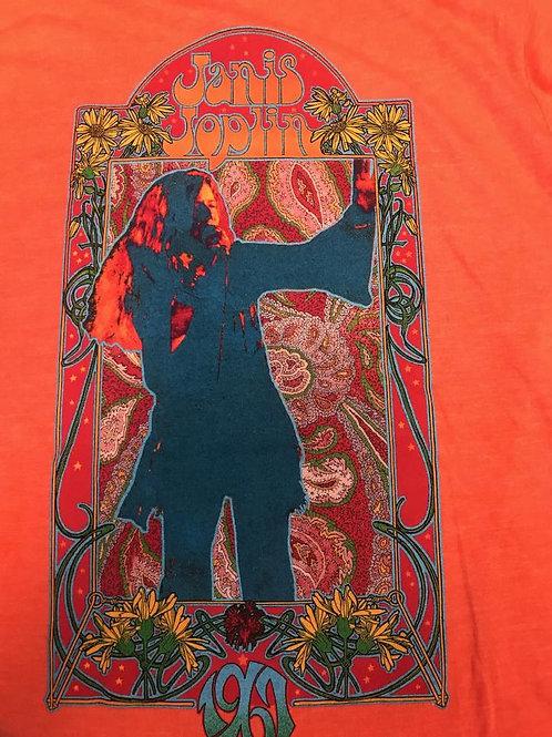 Janis Joplin T-Shirt, Orange (women's cut)