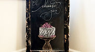 Wedding Chalkboard from And She Writes