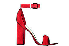 Red Heel Illustratin from And She Writes