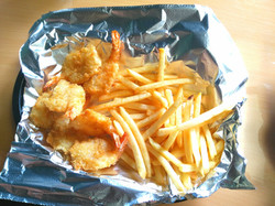 Shrimps and fries