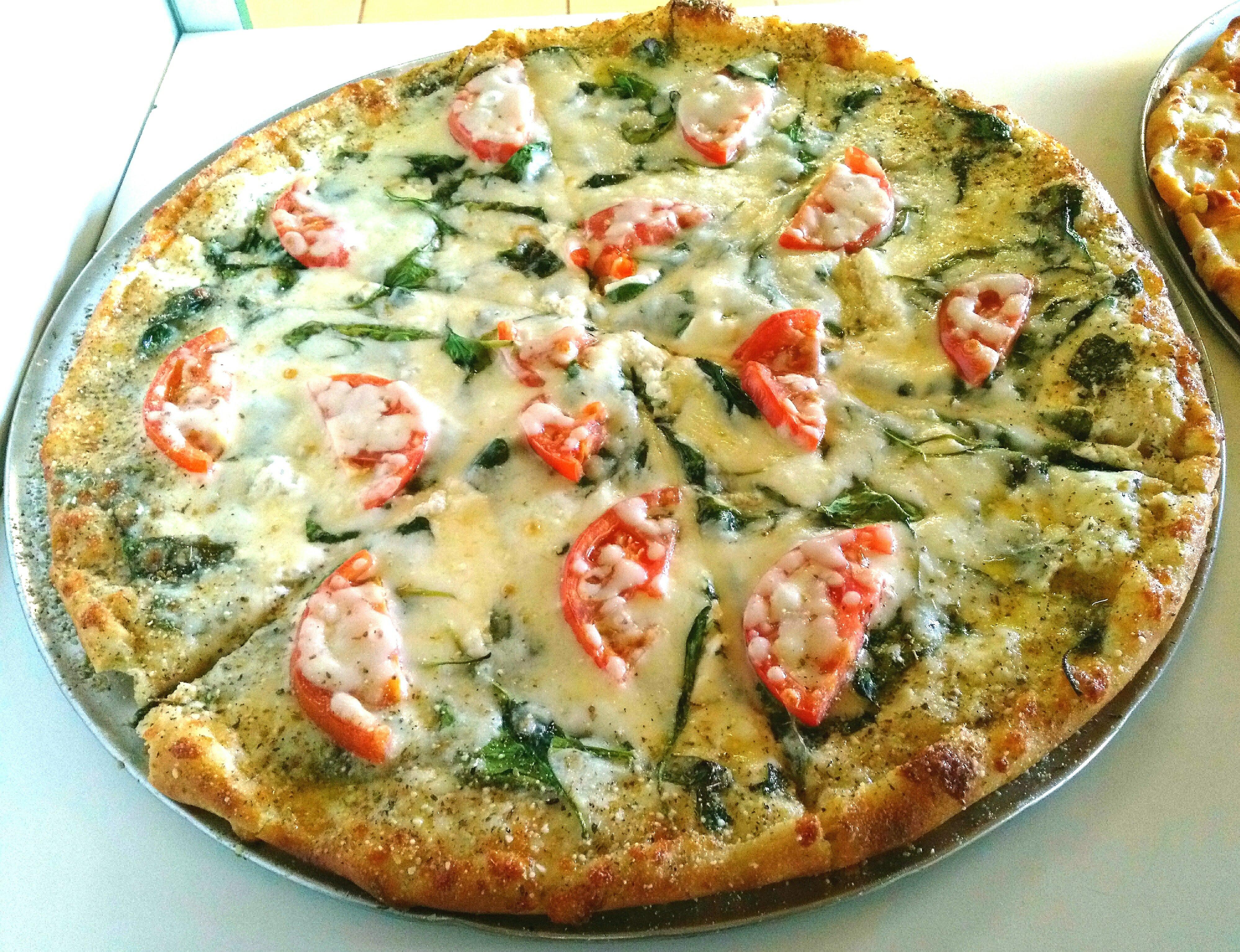 White spinach ricotta w/ tomato