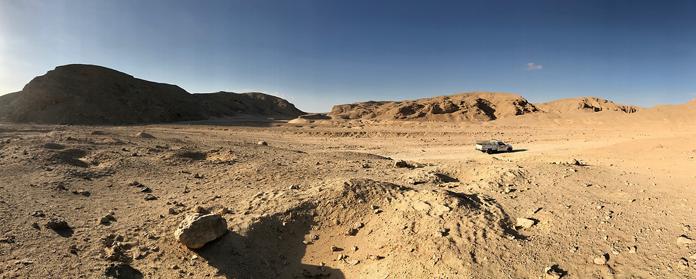 The location of the North Tombs Cemetery in one of the wadis around Tell el-Amarna