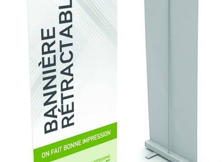 La bannière rétractable (Paraposts - Roll-up)... un excellent outil publicitaire!
