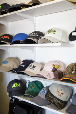 Embroidery on toques and caps
