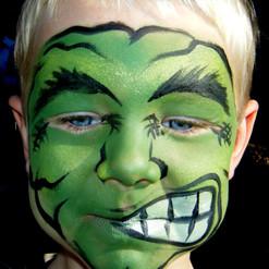 hulk face paint halloween
