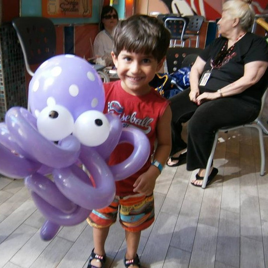 Giant octopus for birthday boy