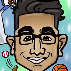 Basketball Caricature