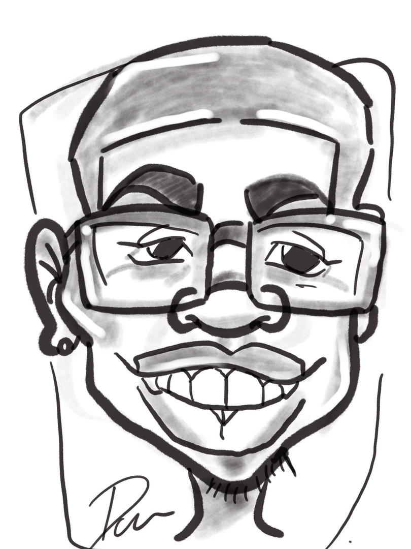 Faceloon caricature portraits black and white