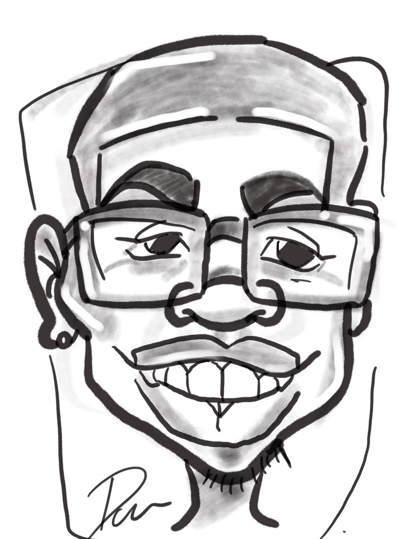 Faceloon caricature portaits black and white