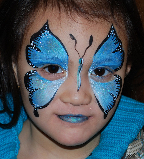 buttefly face painting