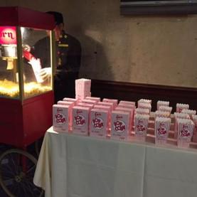 Popcorn machine set-up