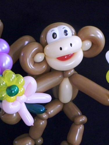 Flower banana monkey balloon animal