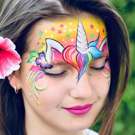Unicorn face painting toronto