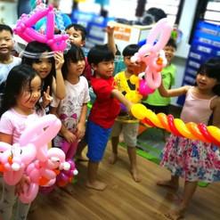 School classroom balloon twisting workshop