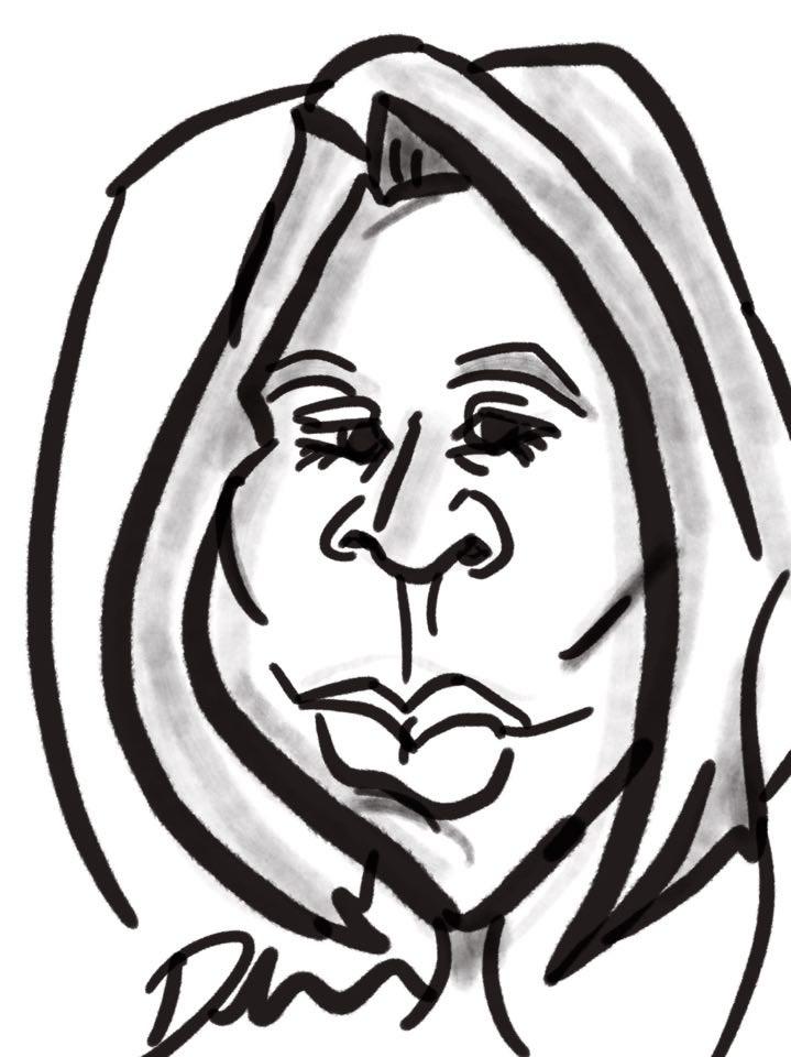 Faceloon caricature portraits black white
