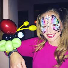 Butterfly Facepainting and lady bug balloon animal