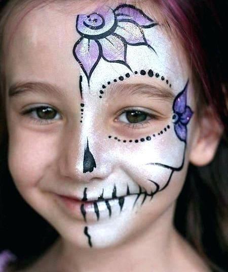 Sugar skull face paint birthday party