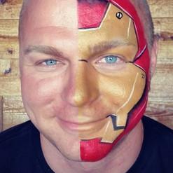 Iron man face painting vaughan