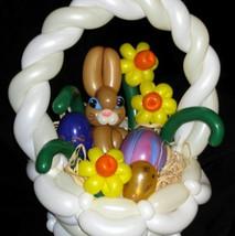 Rabbits nest Easter decoration