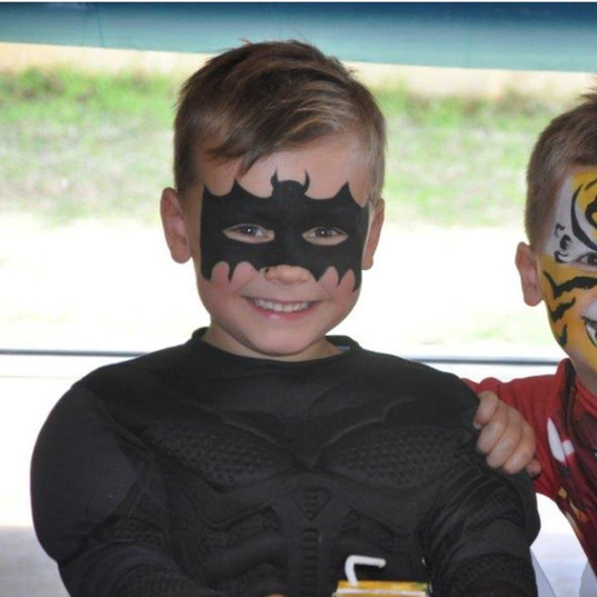 Batman Lion birthday party face painting