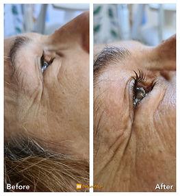 Die Wimperndauerwelle hält bis zu 6 Wochen an