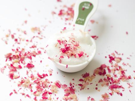 {Recipe} Rose Sugar Scrub