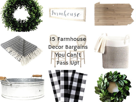 15 Farmhouse Decor Bargains You Can't Pass Up